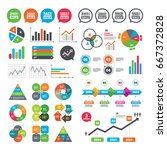 business charts. growth graph.... | Shutterstock . vector #667372828
