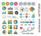 business charts. growth graph....   Shutterstock . vector #667372828