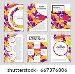 abstract vector layout... | Shutterstock .eps vector #667376806