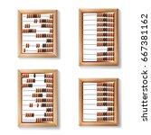abacus set vector. realistic... | Shutterstock .eps vector #667381162
