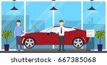 automobile showroom interior. | Shutterstock . vector #667385068