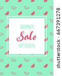 summer sale banner with... | Shutterstock .eps vector #667391278