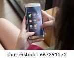 bangkok  thailand june   27... | Shutterstock . vector #667391572