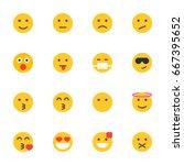 emoticon icon set | Shutterstock .eps vector #667395652