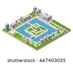 isometric vector illustration... | Shutterstock .eps vector #667403035