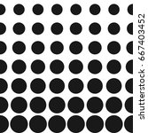 vector half tone circles... | Shutterstock .eps vector #667403452