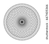 abstract spirograph element.... | Shutterstock .eps vector #667405366