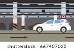 underground parking background. ... | Shutterstock .eps vector #667407022