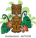 exotic tiki god | Shutterstock .eps vector #6674158