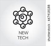 scientific spherical particles... | Shutterstock .eps vector #667418188