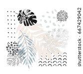 hand drawn artwork in... | Shutterstock .eps vector #667429042