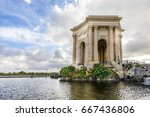 main basin of peyrou in... | Shutterstock . vector #667436806