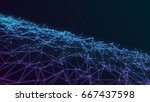 mesh connection of dots and... | Shutterstock . vector #667437598
