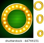 letters for signs with lamps.... | Shutterstock .eps vector #66744151