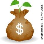 concept illustration of a bag... | Shutterstock .eps vector #667442056
