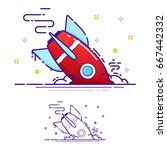 the missile crashed  error  a... | Shutterstock .eps vector #667442332