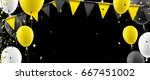 black banner with yellow flags  ... | Shutterstock .eps vector #667451002