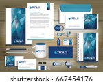set of vector corporate... | Shutterstock .eps vector #667454176