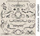 vector set  calligraphic design ... | Shutterstock .eps vector #66746884