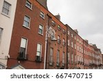 the georgian area of dublin ... | Shutterstock . vector #667470715