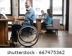 intelligent handicapped student ... | Shutterstock . vector #667475362