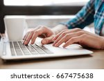 smart inspired student working... | Shutterstock . vector #667475638