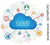 cloud communication design | Shutterstock .eps vector #667489192