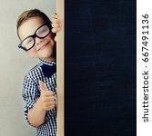 school kid in class. education...   Shutterstock . vector #667491136
