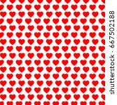 red heart pattern background... | Shutterstock .eps vector #667502188