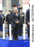 Small photo of The Hague, The Netherlands - June 24, 2017: Minister of defence, Jeanine Hennis-Plasschaert was present at the annual parade on veterans day in The Hague