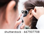 doctor examined the patient's... | Shutterstock . vector #667507708