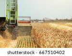 combine harvester machine... | Shutterstock . vector #667510402