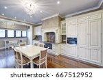 modern design white kitchen in...   Shutterstock . vector #667512952