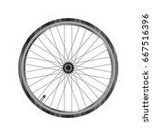 bicycle wheel   back wheel of... | Shutterstock .eps vector #667516396
