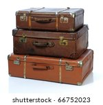 Vintage Suitcase Over A White...