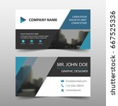 blue triangle corporate... | Shutterstock .eps vector #667525336