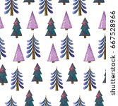 the seamless pattern on a white ... | Shutterstock . vector #667528966