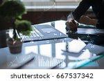 business concept background.... | Shutterstock . vector #667537342