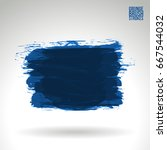 blue brush stroke and texture.... | Shutterstock .eps vector #667544032