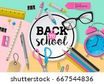 back to school banner design... | Shutterstock .eps vector #667544836