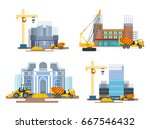 the process of building a... | Shutterstock .eps vector #667546432