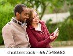 beautiful young multi ethnic... | Shutterstock . vector #667548682