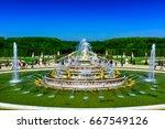 the latona fountain in the...   Shutterstock . vector #667549126