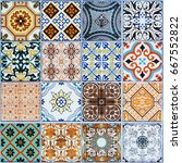 ceramic tiles patterns from...   Shutterstock . vector #667552822