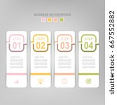 infographic template of four... | Shutterstock .eps vector #667552882