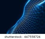 3d rendering abstract... | Shutterstock . vector #667558726