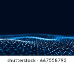 3d rendering abstract... | Shutterstock . vector #667558792