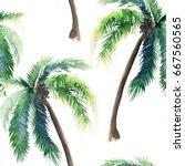 beautiful bright cute green... | Shutterstock . vector #667560565