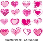 collection heart vector | Shutterstock .eps vector #66756430