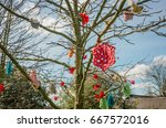 crochet flowers and other...   Shutterstock . vector #667572016